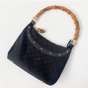 Gucci Bamboo Handle Medium Anita Shoulder Bag